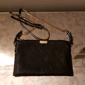 Burberry Leather Chichester Shoulder Clutch Bag